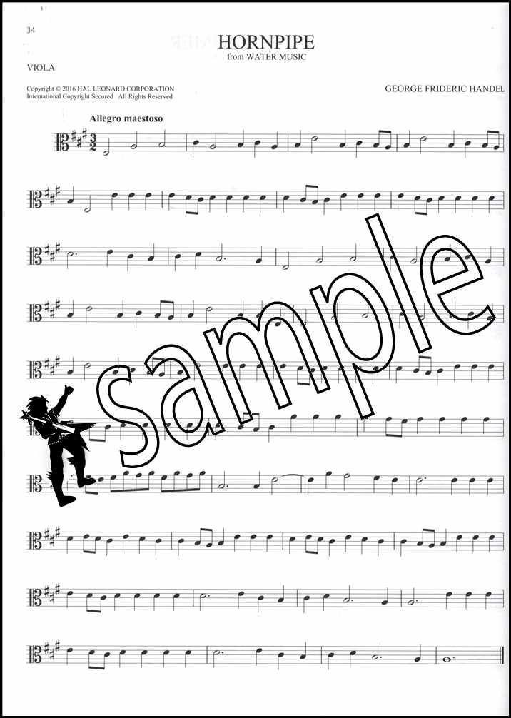 101 Classical Themes for Viola Sheet Music Book Mozart Bach Handel Chopin Liszt