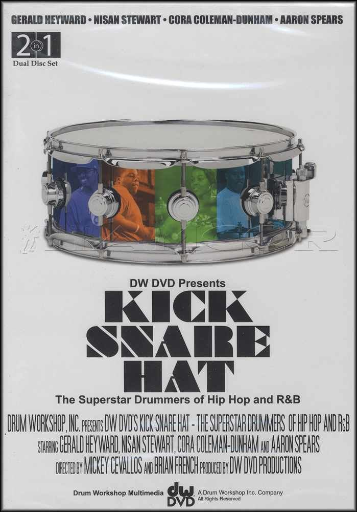 5895b459 Details about Kick Snare Hat Drum Tuition 2 DVD Set Superstar Drummers of  Hip Hop and R&B