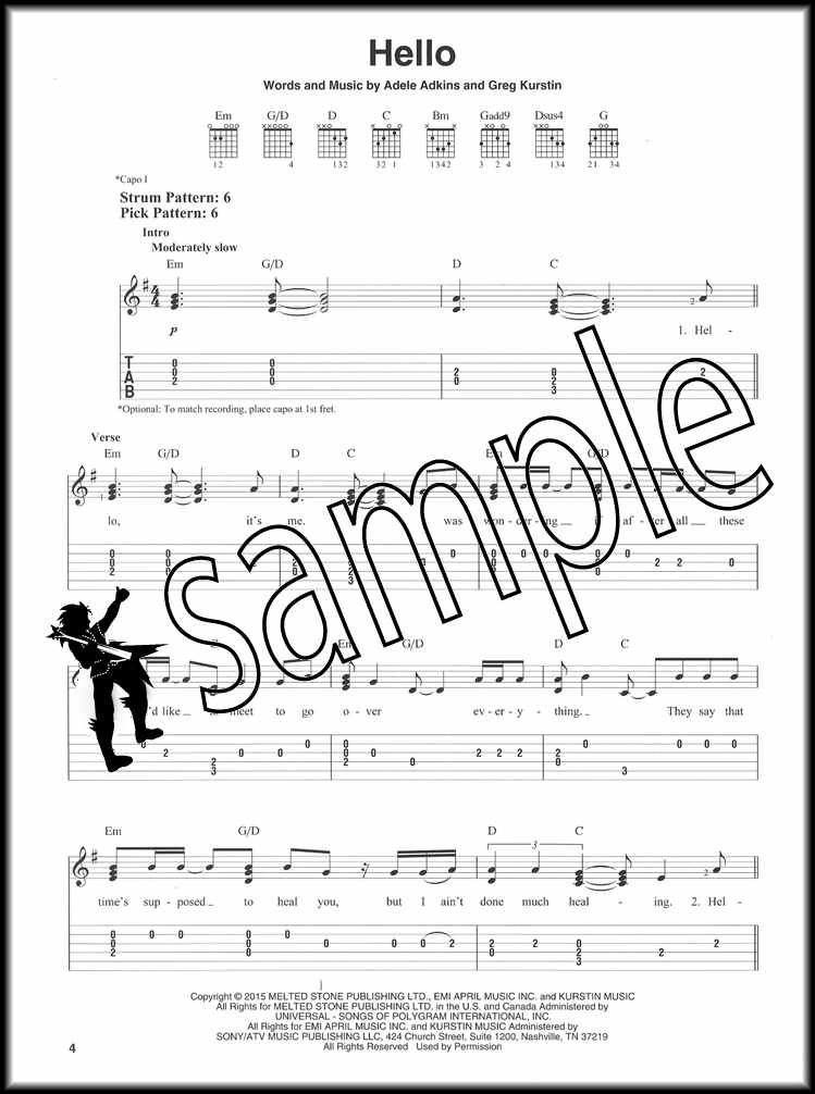 Details About Adele 25 For Easy Guitar Tab Music Book Hello Remedy When We Were Young Hits