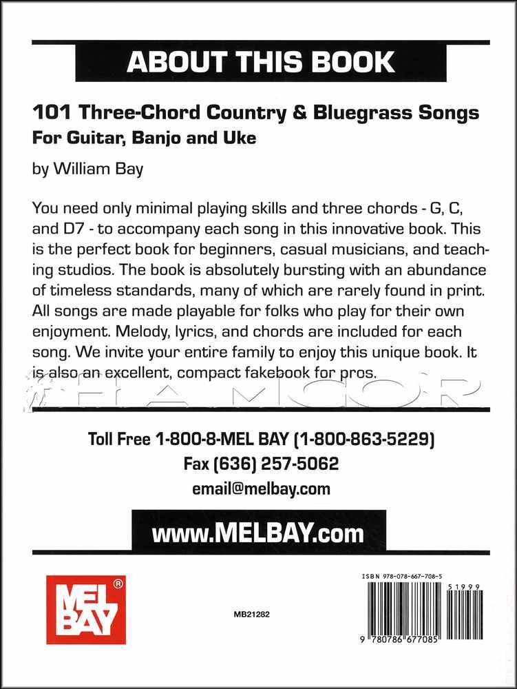 Details about 101 Three-Chord Country & Bluegrass Songs Guitar Banjo  Ukulele SAME DAY DISPATCH