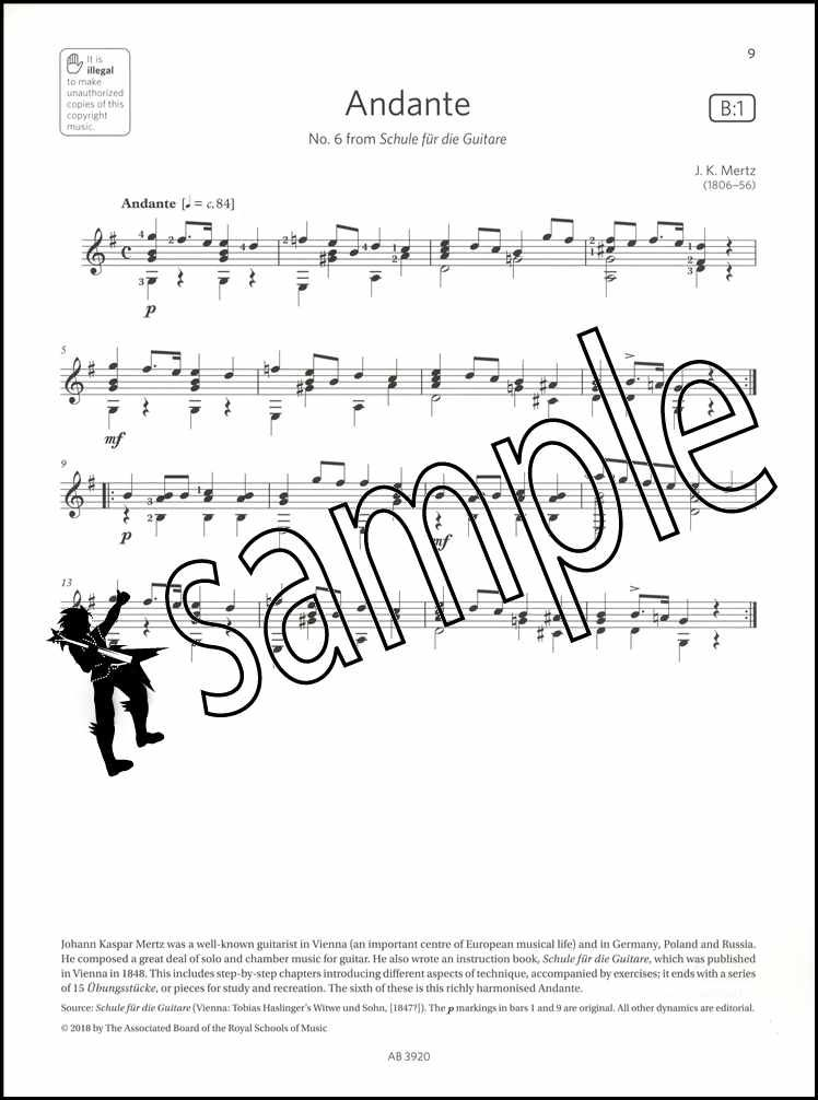 Guitar Exam Pieces ABRSM Grade 3 from 2019 Sheet Music Book Classical Mozart