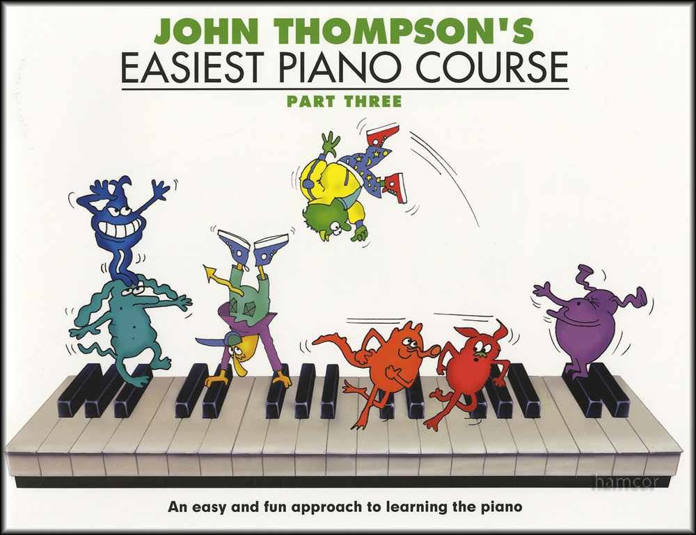 John Thompsons Easiest Piano Course Pop Songs Learn to Play Easy Music Book