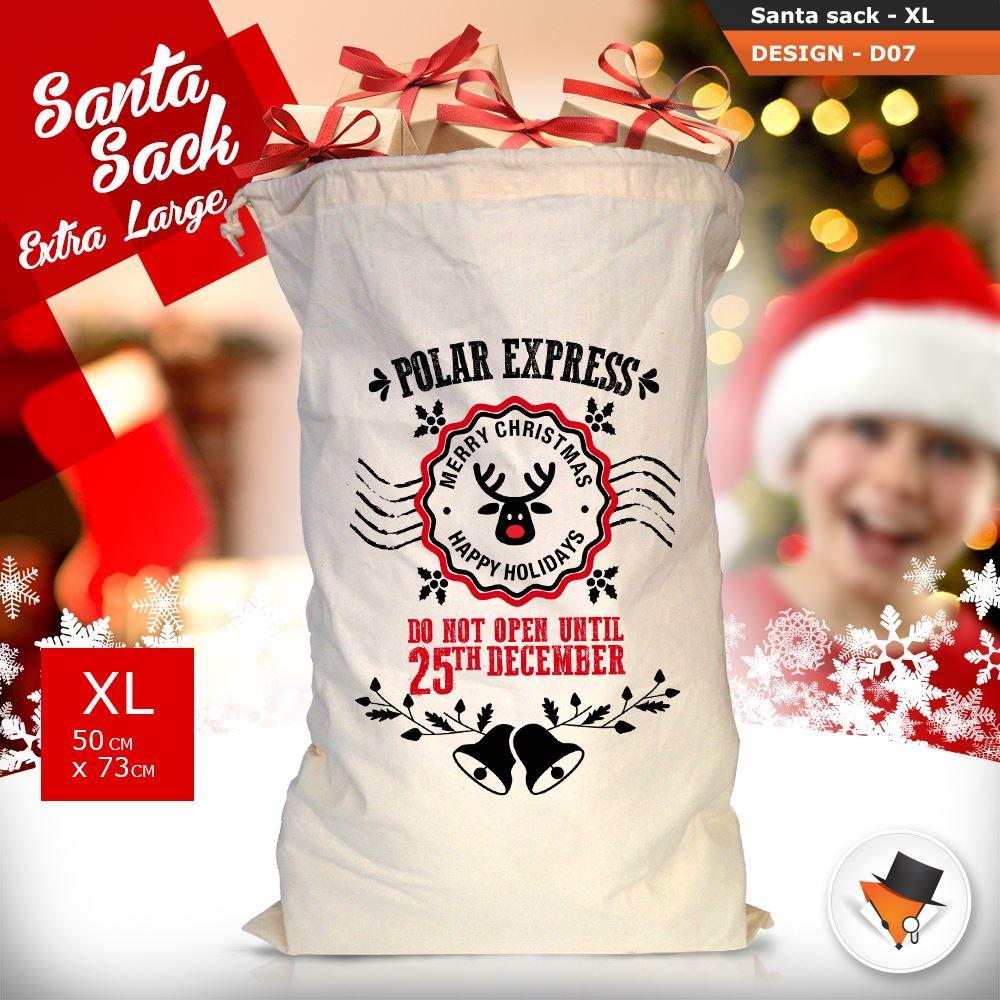 GRANDE-Babbo-Natale-Sacco-Babbo-Natale-Borsa-per-i-REGALI-DONI-NATALE-Calze-Di-Cotone miniatura 29