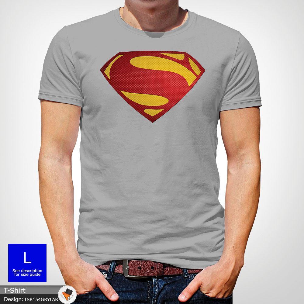 Da-Uomo-Superman-T-Shirt-Classic-Fit-DC-Comics-XS-S-M-L-XL-XXL-NEW-RED miniatura 30