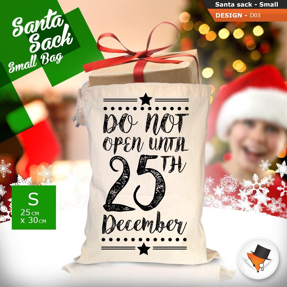 GRANDE-Babbo-Natale-Sacco-Babbo-Natale-Borsa-per-i-REGALI-DONI-NATALE-Calze-Di-Cotone miniatura 12