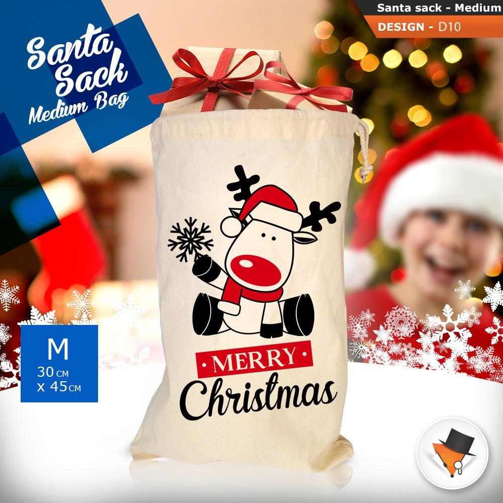 GRANDE-Babbo-Natale-Sacco-Babbo-Natale-Borsa-per-i-REGALI-DONI-NATALE-Calze-Di-Cotone miniatura 39