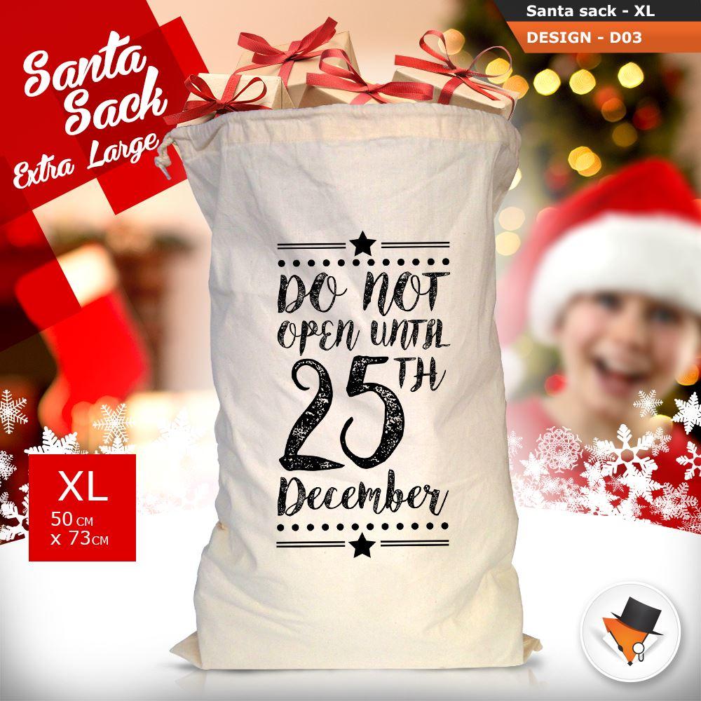 GRANDE-Babbo-Natale-Sacco-Babbo-Natale-Borsa-per-i-REGALI-DONI-NATALE-Calze-Di-Cotone miniatura 13
