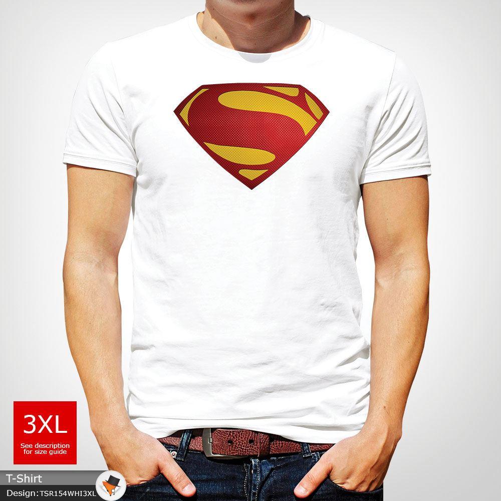 Da-Uomo-Superman-T-Shirt-Classic-Fit-DC-Comics-XS-S-M-L-XL-XXL-NEW-RED miniatura 49
