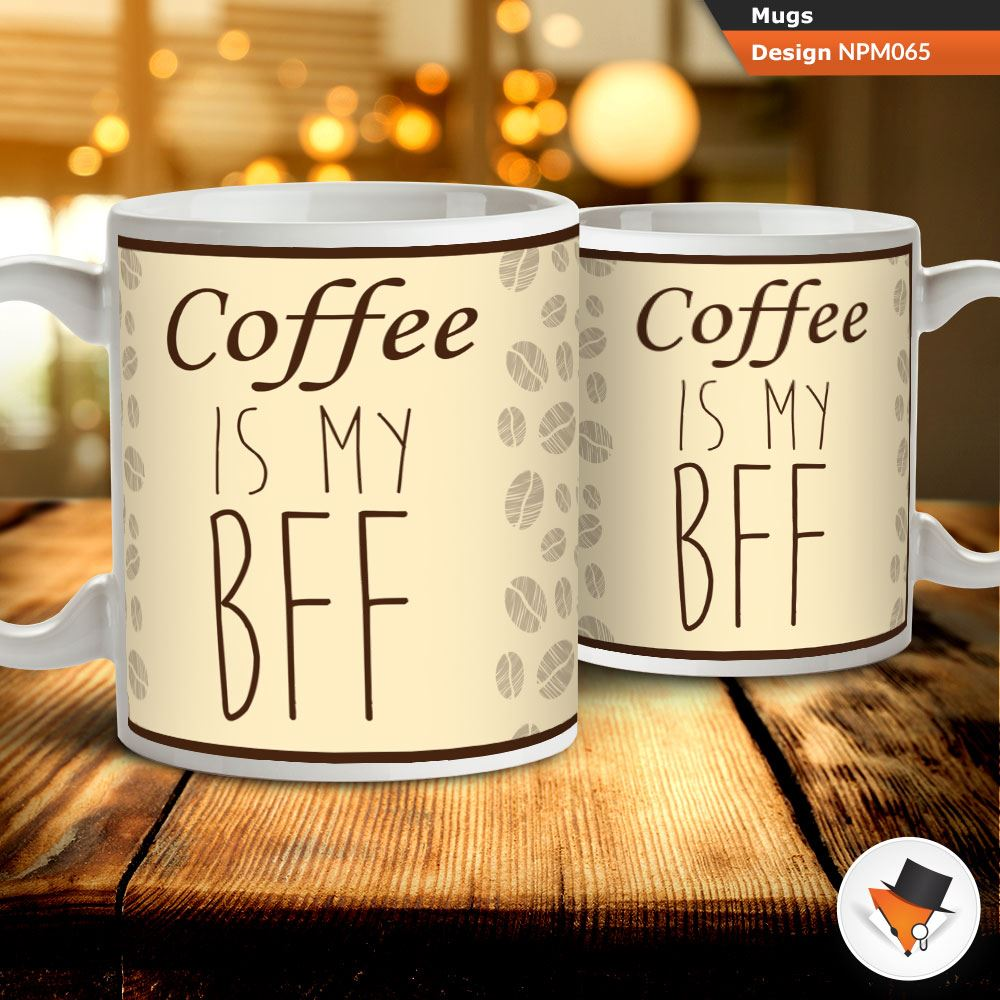 Details About Coffee Is My BFF Best Friend Forever Tea Mug Cup Gift Birthday Present