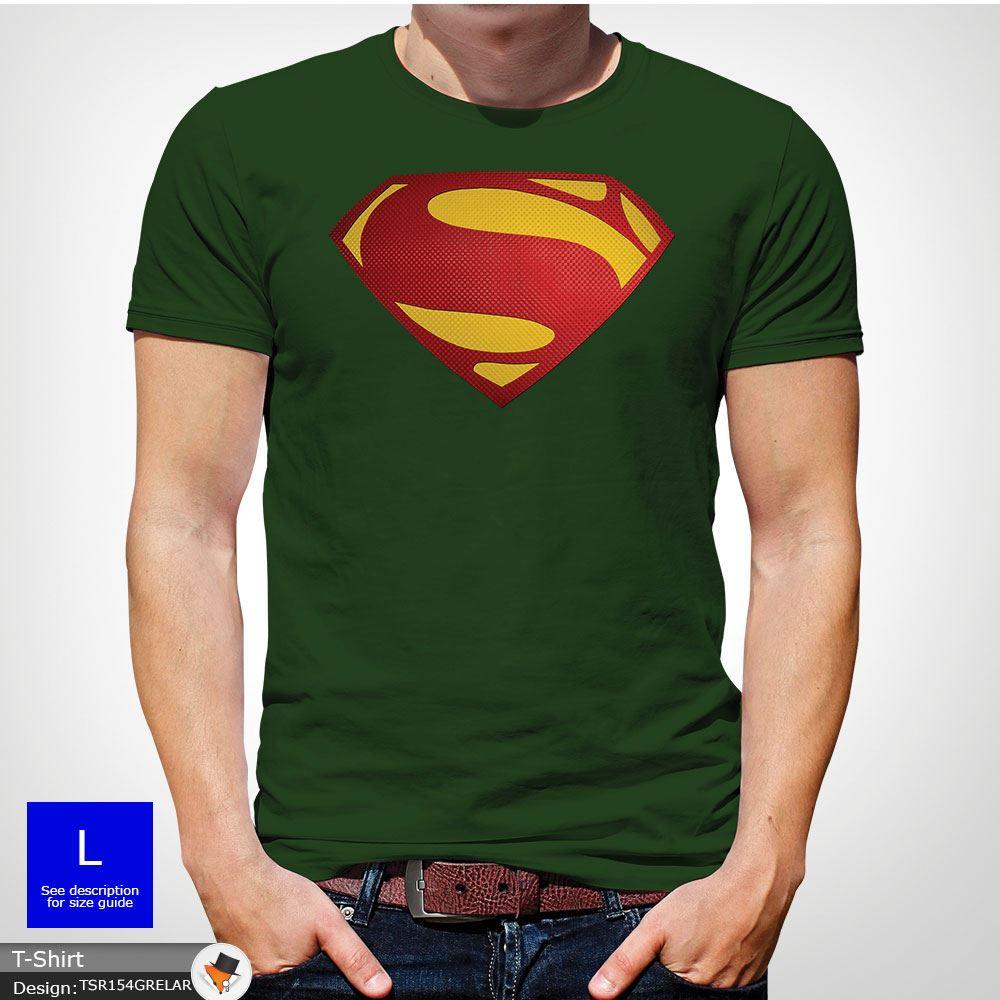 Da-Uomo-Superman-T-Shirt-Classic-Fit-DC-Comics-XS-S-M-L-XL-XXL-NEW-RED miniatura 11