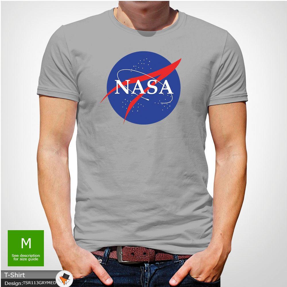 NASA SPACE ASTRONAUT T SHIRT GEEK NERD STAR MEN MENS T Shirt Top Dark Gray