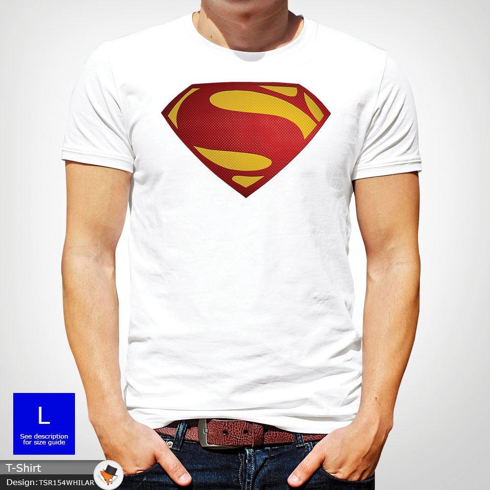 Da-Uomo-Superman-T-Shirt-Classic-Fit-DC-Comics-XS-S-M-L-XL-XXL-NEW-RED miniatura 46