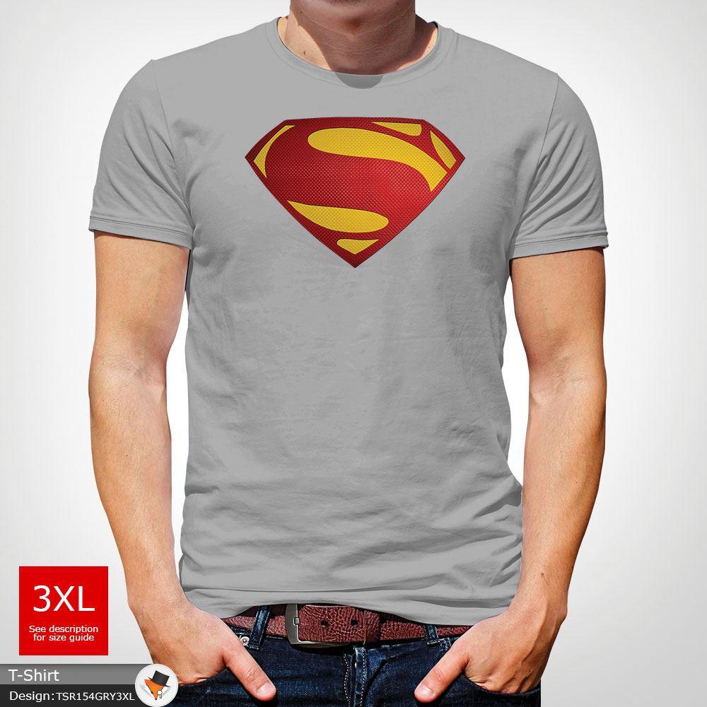 Da-Uomo-Superman-T-Shirt-Classic-Fit-DC-Comics-XS-S-M-L-XL-XXL-NEW-RED miniatura 27