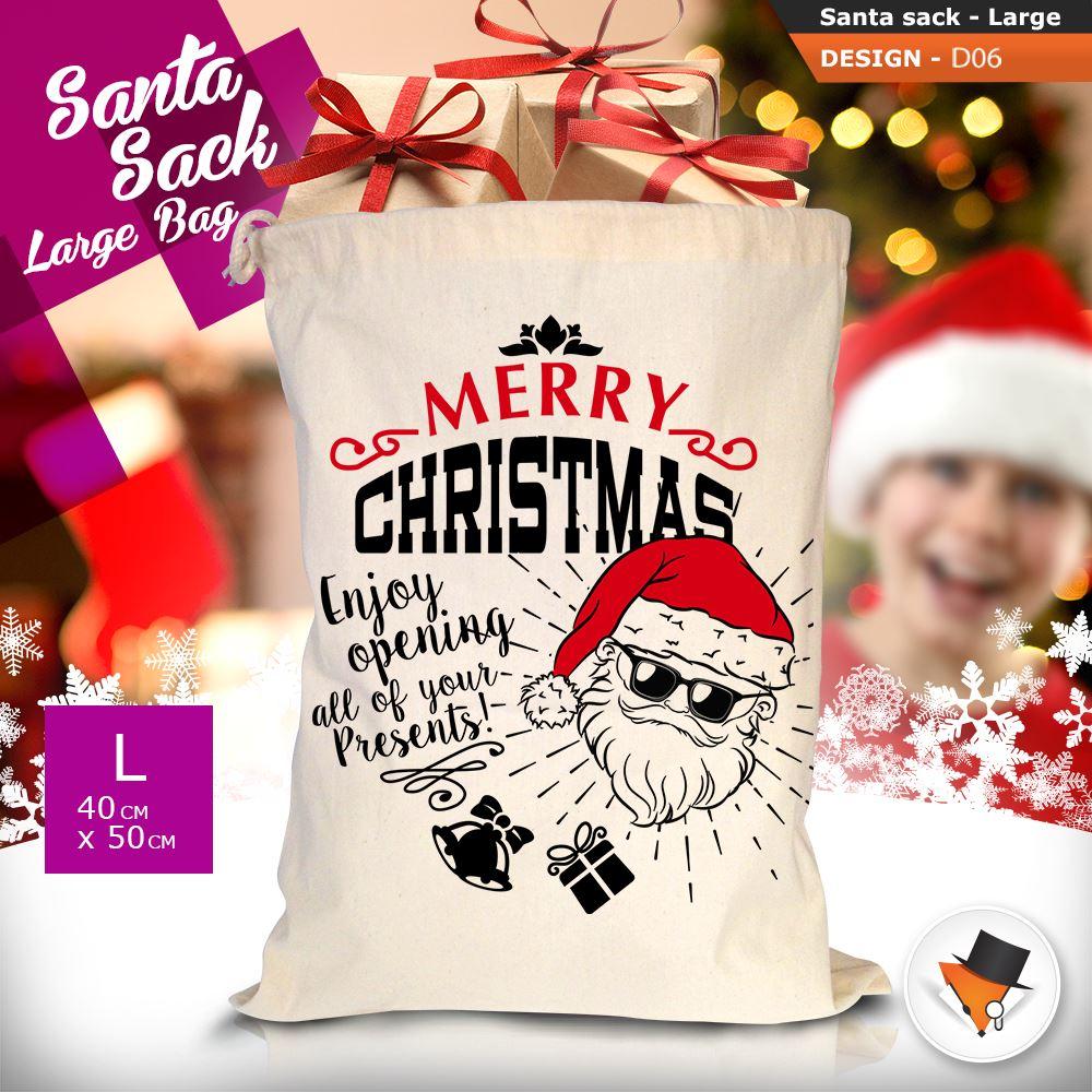 GRANDE-Babbo-Natale-Sacco-Babbo-Natale-Borsa-per-i-REGALI-DONI-NATALE-Calze-Di-Cotone miniatura 23