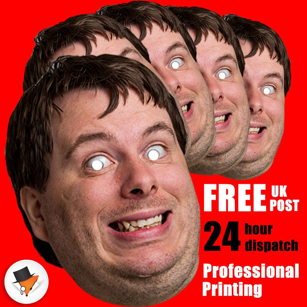 50 PERSONALISED PHOTO FACE MASK KITS FOR STAG /& HEN NIGHT BIRTHDAY PARTY