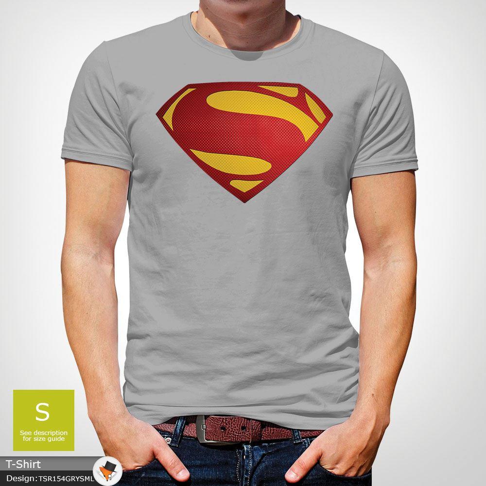 Da-Uomo-Superman-T-Shirt-Classic-Fit-DC-Comics-XS-S-M-L-XL-XXL-NEW-RED miniatura 25