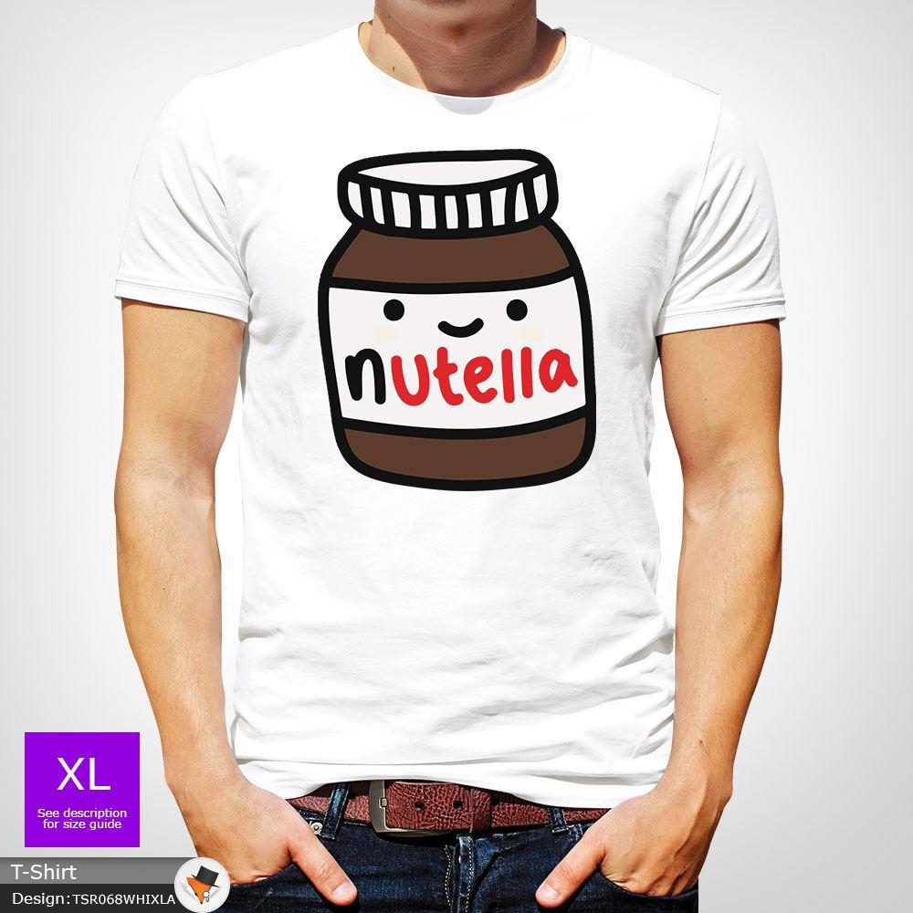 Nutella Chocolate Spread T-Shirt Vest Top Mens Unisex Xmas Christmas Dark Gray