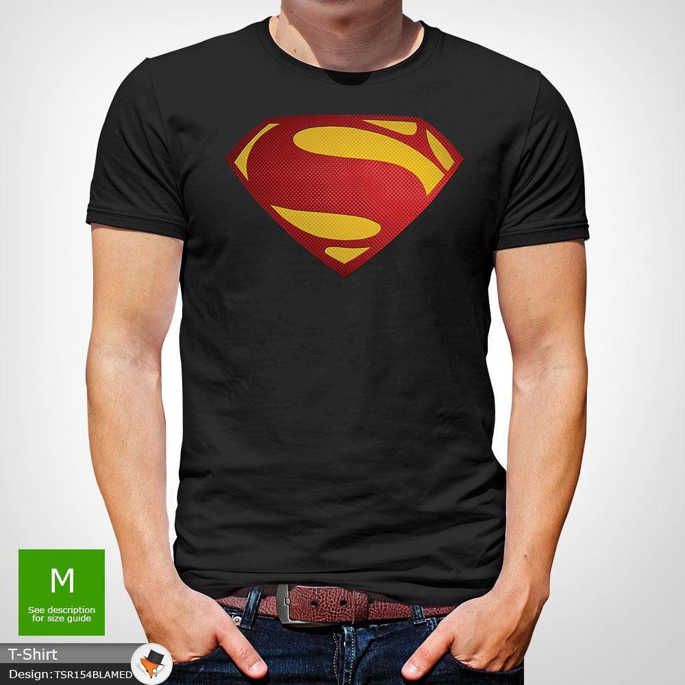 Da-Uomo-Superman-T-Shirt-Classic-Fit-DC-Comics-XS-S-M-L-XL-XXL-NEW-RED miniatura 4