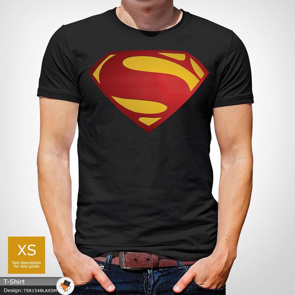 Da-Uomo-Superman-T-Shirt-Classic-Fit-DC-Comics-XS-S-M-L-XL-XXL-NEW-RED miniatura 6