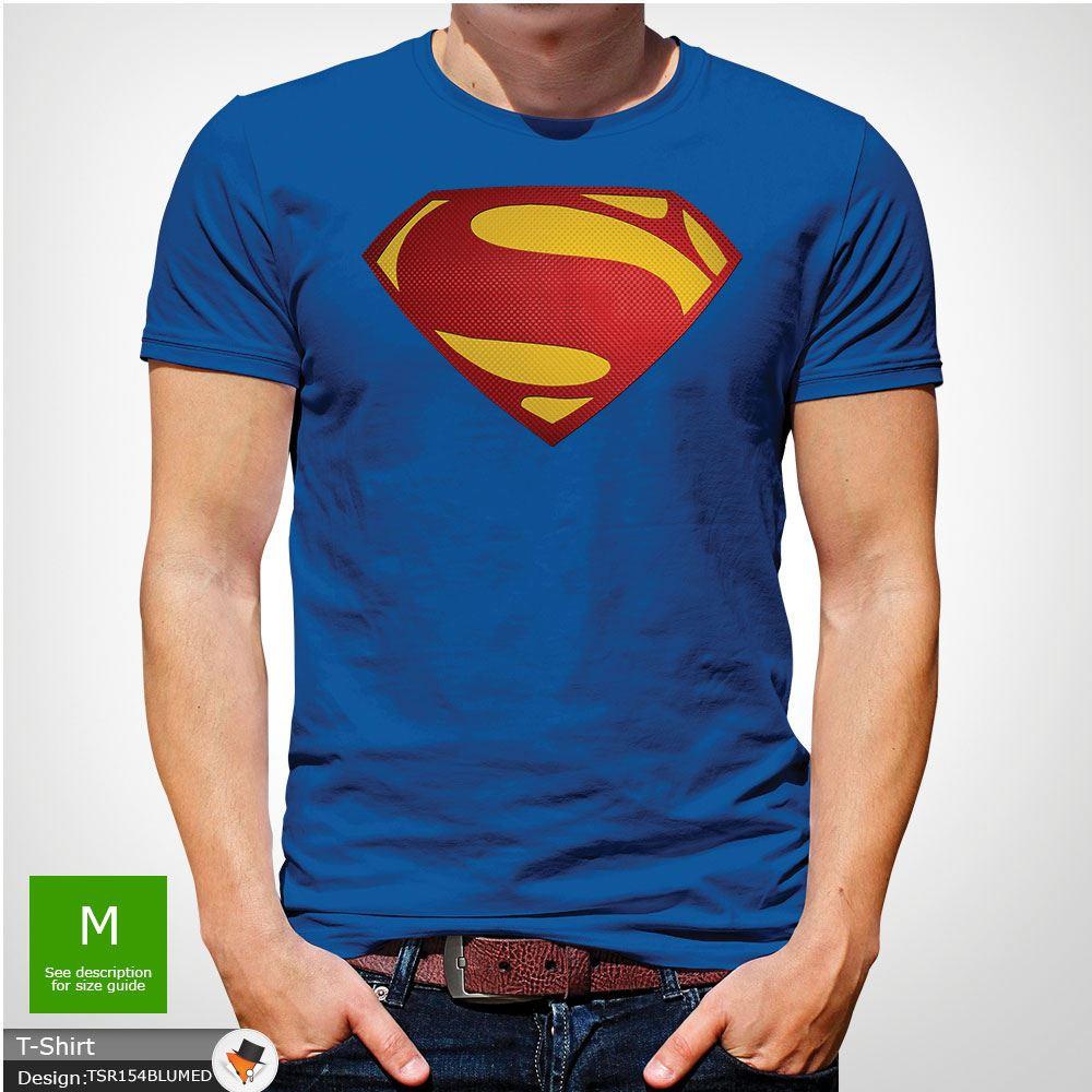 Da-Uomo-Superman-T-Shirt-Classic-Fit-DC-Comics-XS-S-M-L-XL-XXL-NEW-RED miniatura 42