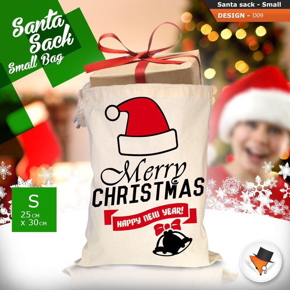 GRANDE-Babbo-Natale-Sacco-Babbo-Natale-Borsa-per-i-REGALI-DONI-NATALE-Calze-Di-Cotone miniatura 36