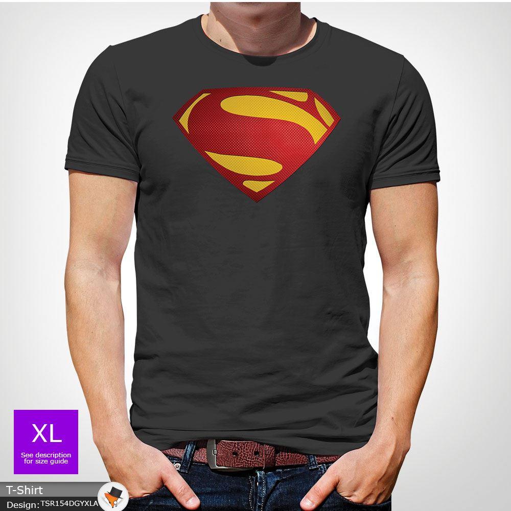 Da-Uomo-Superman-T-Shirt-Classic-Fit-DC-Comics-XS-S-M-L-XL-XXL-NEW-RED miniatura 18