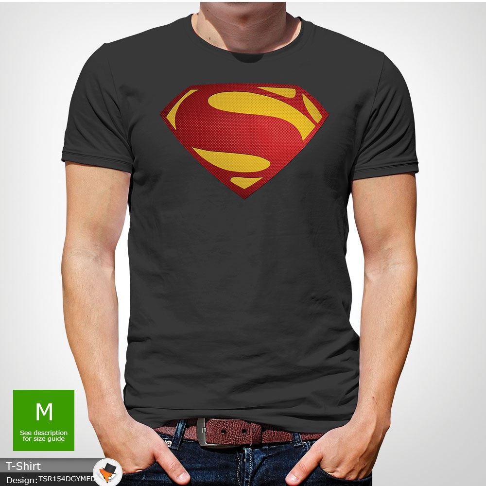 Da-Uomo-Superman-T-Shirt-Classic-Fit-DC-Comics-XS-S-M-L-XL-XXL-NEW-RED miniatura 22