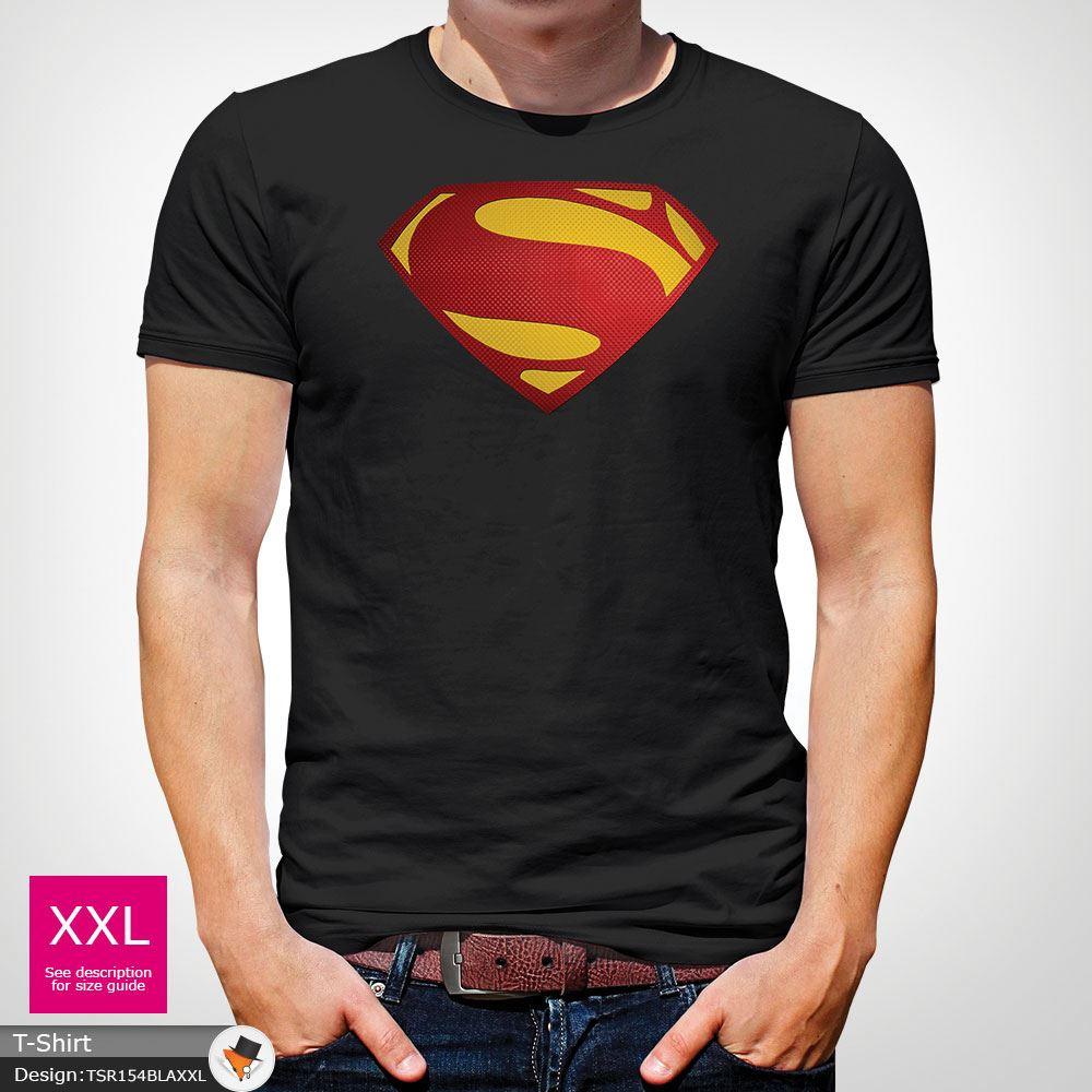 Da-Uomo-Superman-T-Shirt-Classic-Fit-DC-Comics-XS-S-M-L-XL-XXL-NEW-RED miniatura 5