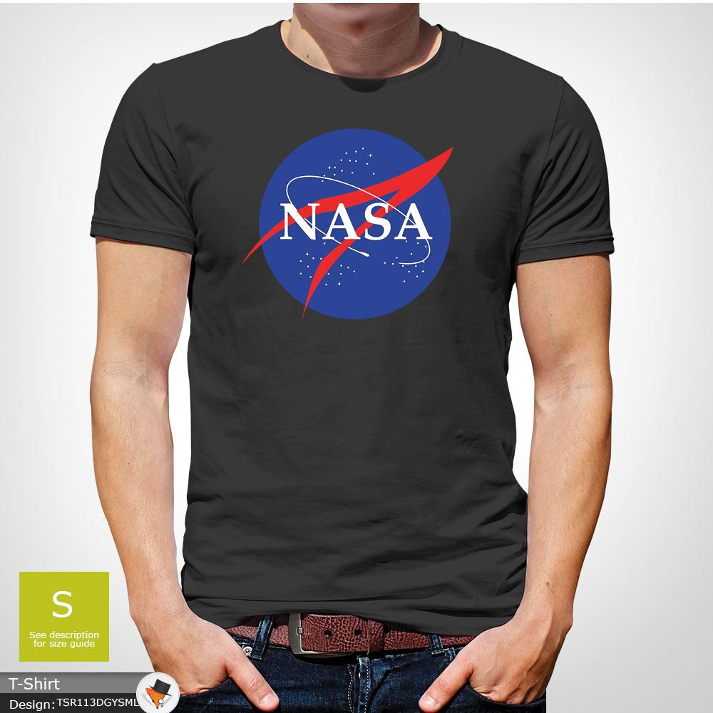 ded94a4d NASA SPACE ASTRONAUT T-SHIRT- GEEK NERD STAR LOGO MEN MENS T-Shirt ...