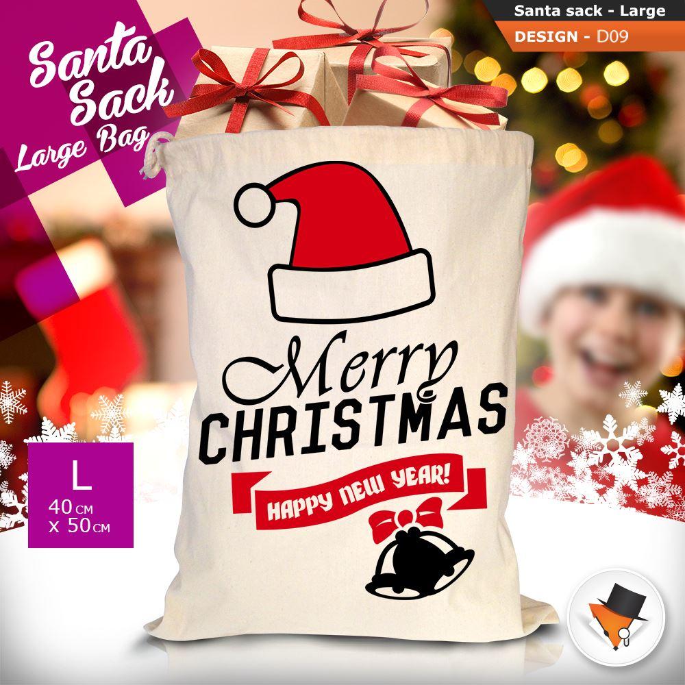 GRANDE-Babbo-Natale-Sacco-Babbo-Natale-Borsa-per-i-REGALI-DONI-NATALE-Calze-Di-Cotone miniatura 35