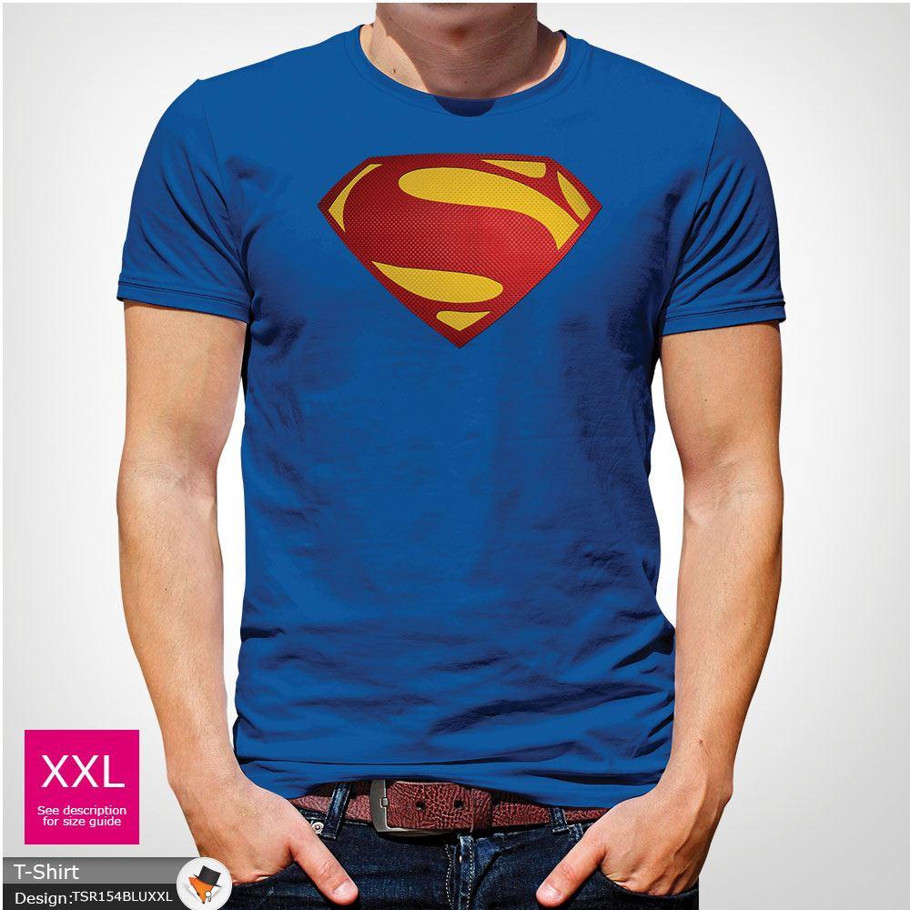 Da-Uomo-Superman-T-Shirt-Classic-Fit-DC-Comics-XS-S-M-L-XL-XXL-NEW-RED miniatura 41