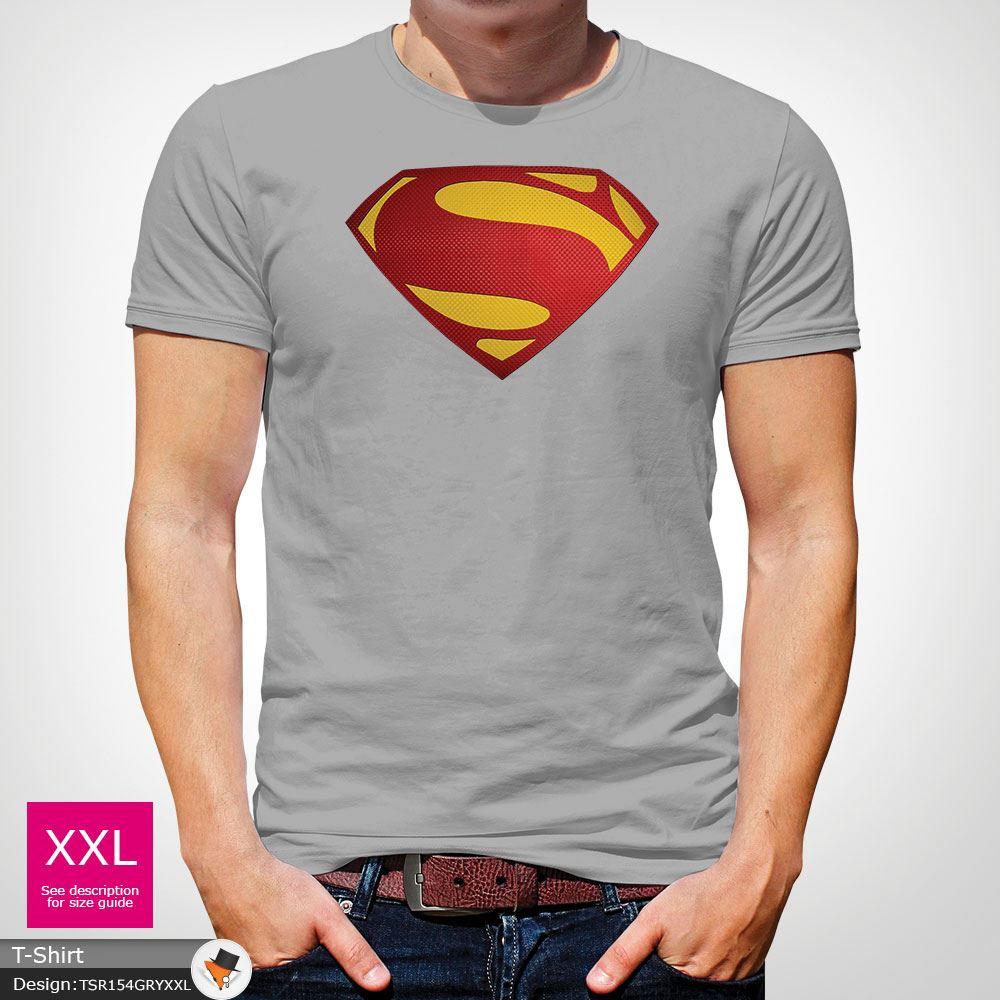 Da-Uomo-Superman-T-Shirt-Classic-Fit-DC-Comics-XS-S-M-L-XL-XXL-NEW-RED miniatura 28