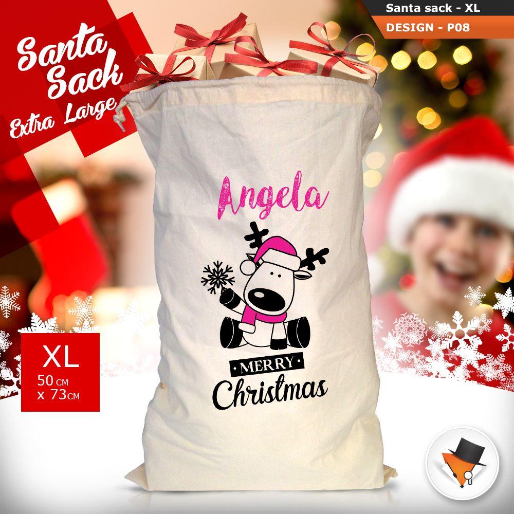 Riesig Vintage Weihnachten Weihnachtsmann Sack Socken Jute ...