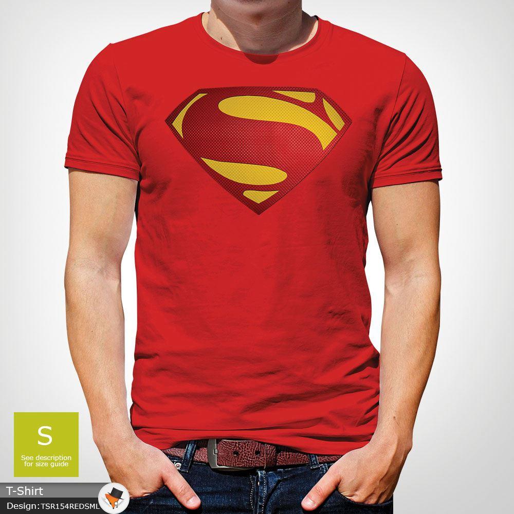 Da-Uomo-Superman-T-Shirt-Classic-Fit-DC-Comics-XS-S-M-L-XL-XXL-NEW-RED miniatura 32