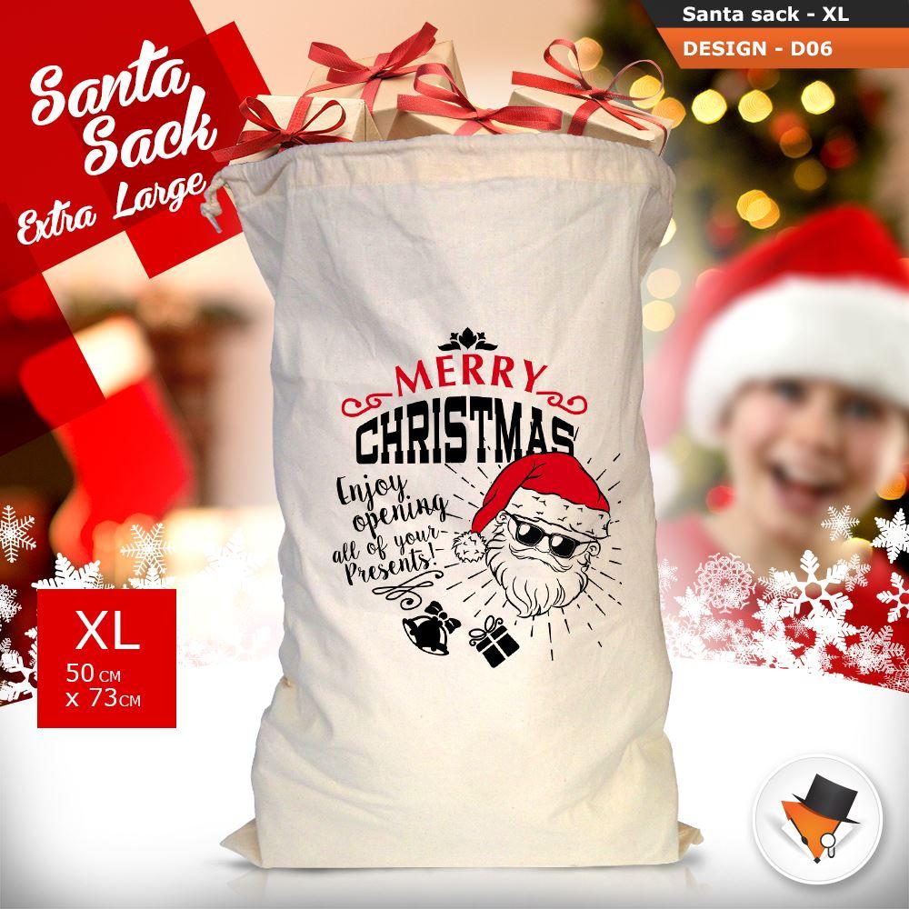 GRANDE-Babbo-Natale-Sacco-Babbo-Natale-Borsa-per-i-REGALI-DONI-NATALE-Calze-Di-Cotone miniatura 24