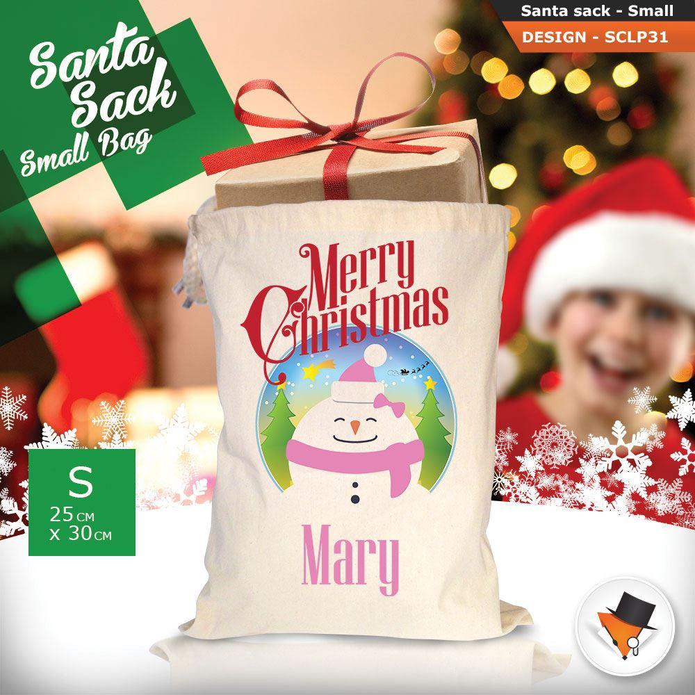 Personalizzato-Per-Bambini-Babbo-Natale-Sacco-Sacchetto-Di-Natale-Renna-Cartone-Animato-Carina-Rosa miniatura 80
