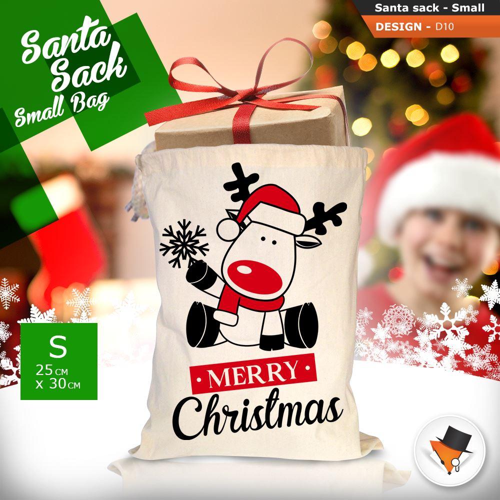 GRANDE-Babbo-Natale-Sacco-Babbo-Natale-Borsa-per-i-REGALI-DONI-NATALE-Calze-Di-Cotone miniatura 41