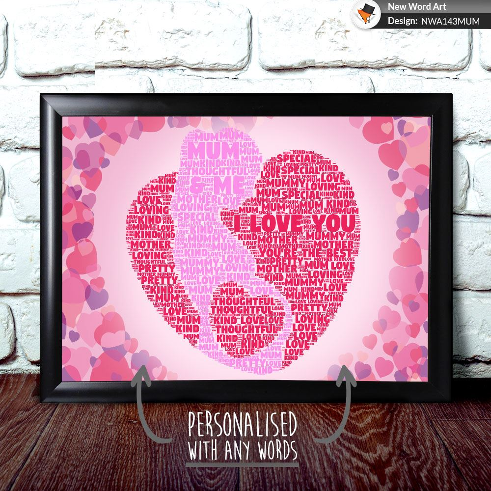 Details About PERSONALISED MUM PREGNANT WITH HEART MUMMY BIRTHDAY GIFT PRESENT