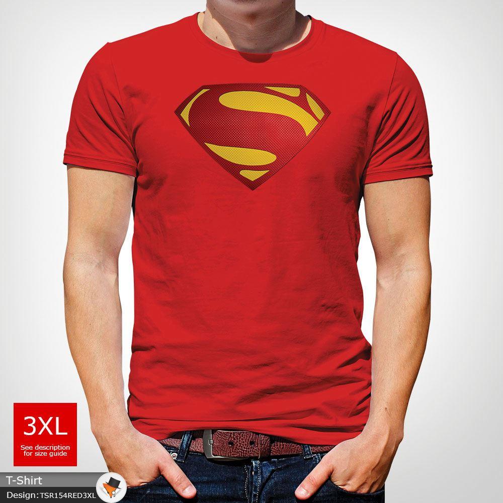 Da-Uomo-Superman-T-Shirt-Classic-Fit-DC-Comics-XS-S-M-L-XL-XXL-NEW-RED miniatura 33
