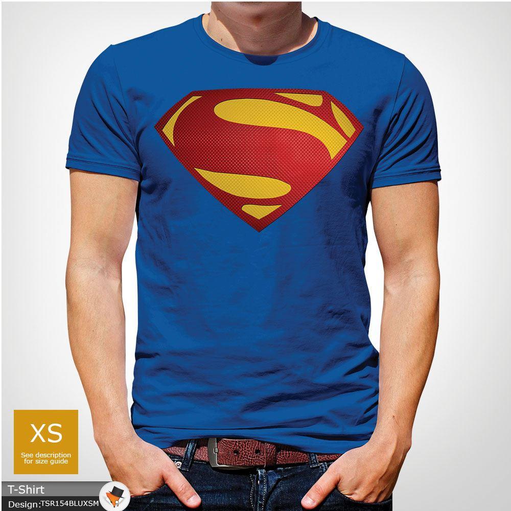 Da-Uomo-Superman-T-Shirt-Classic-Fit-DC-Comics-XS-S-M-L-XL-XXL-NEW-RED miniatura 39