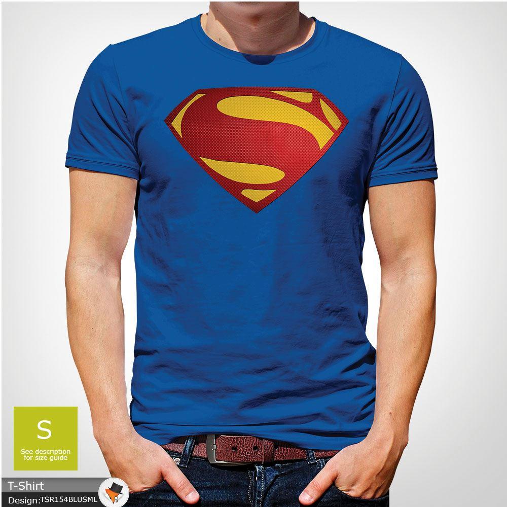 Da-Uomo-Superman-T-Shirt-Classic-Fit-DC-Comics-XS-S-M-L-XL-XXL-NEW-RED miniatura 43
