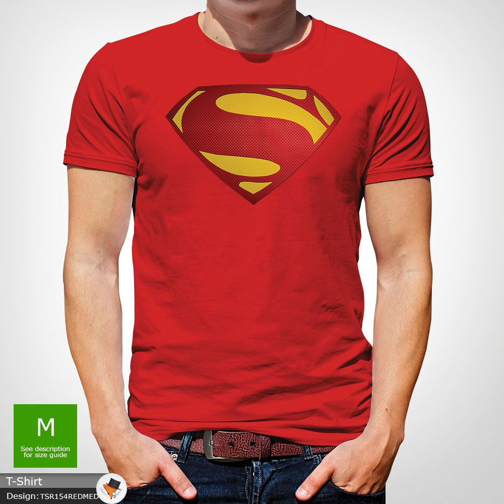 Da-Uomo-Superman-T-Shirt-Classic-Fit-DC-Comics-XS-S-M-L-XL-XXL-NEW-RED miniatura 34