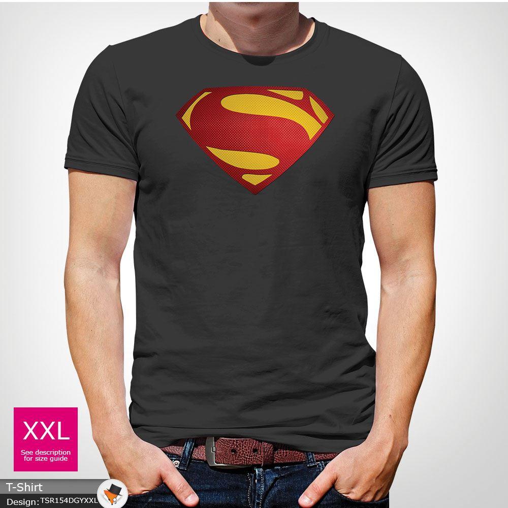 Da-Uomo-Superman-T-Shirt-Classic-Fit-DC-Comics-XS-S-M-L-XL-XXL-NEW-RED miniatura 19