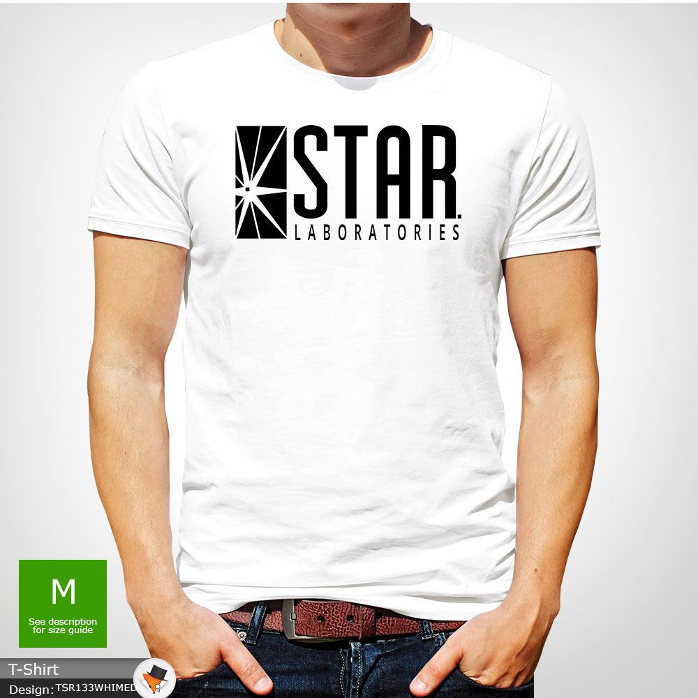 Labs GIFT T-SHIRTS White STAR Laboratories T Shirt Top The Flash S.T.A.R