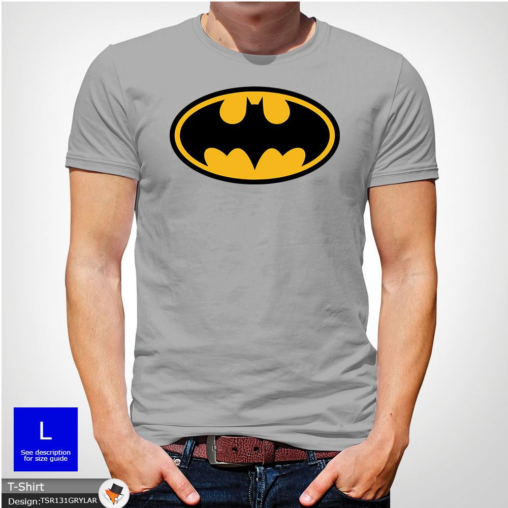 Batman T Shirt Traditional Symbol T Shirt Dc Comics Logo Gift Top