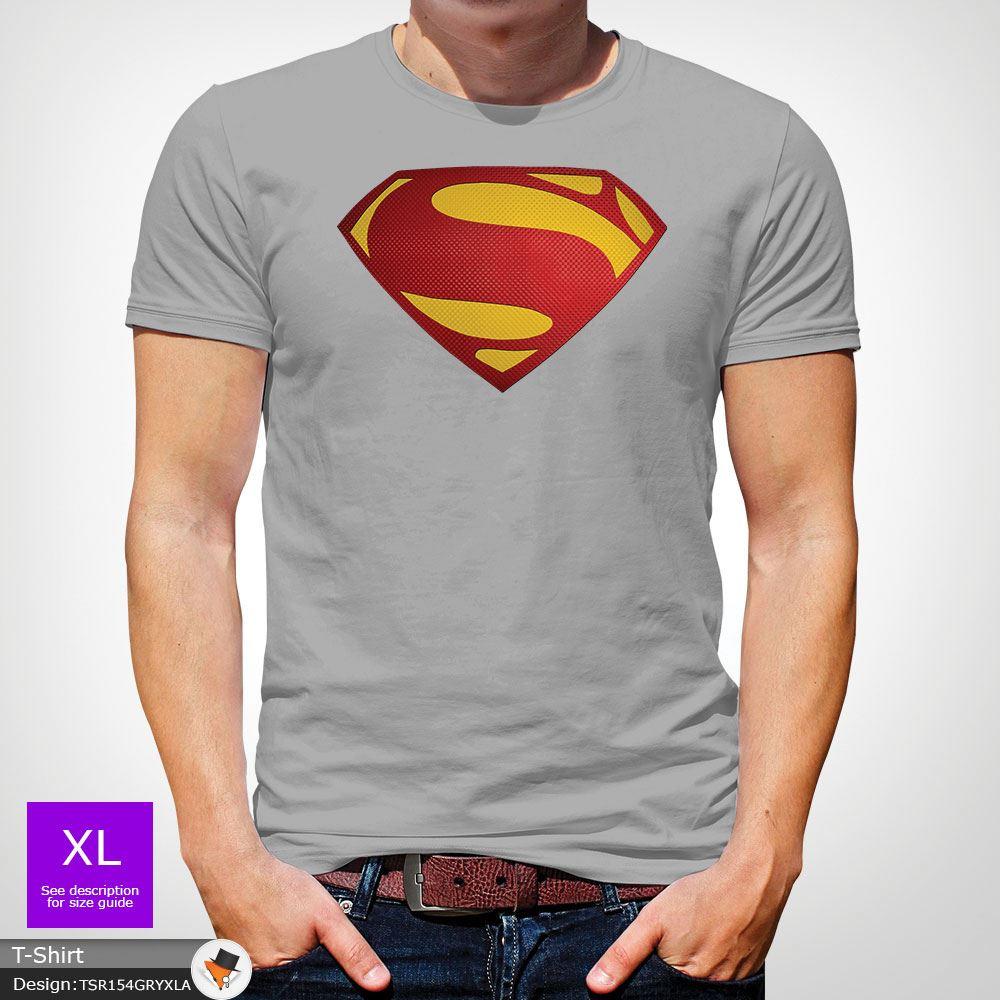 Da-Uomo-Superman-T-Shirt-Classic-Fit-DC-Comics-XS-S-M-L-XL-XXL-NEW-RED miniatura 29