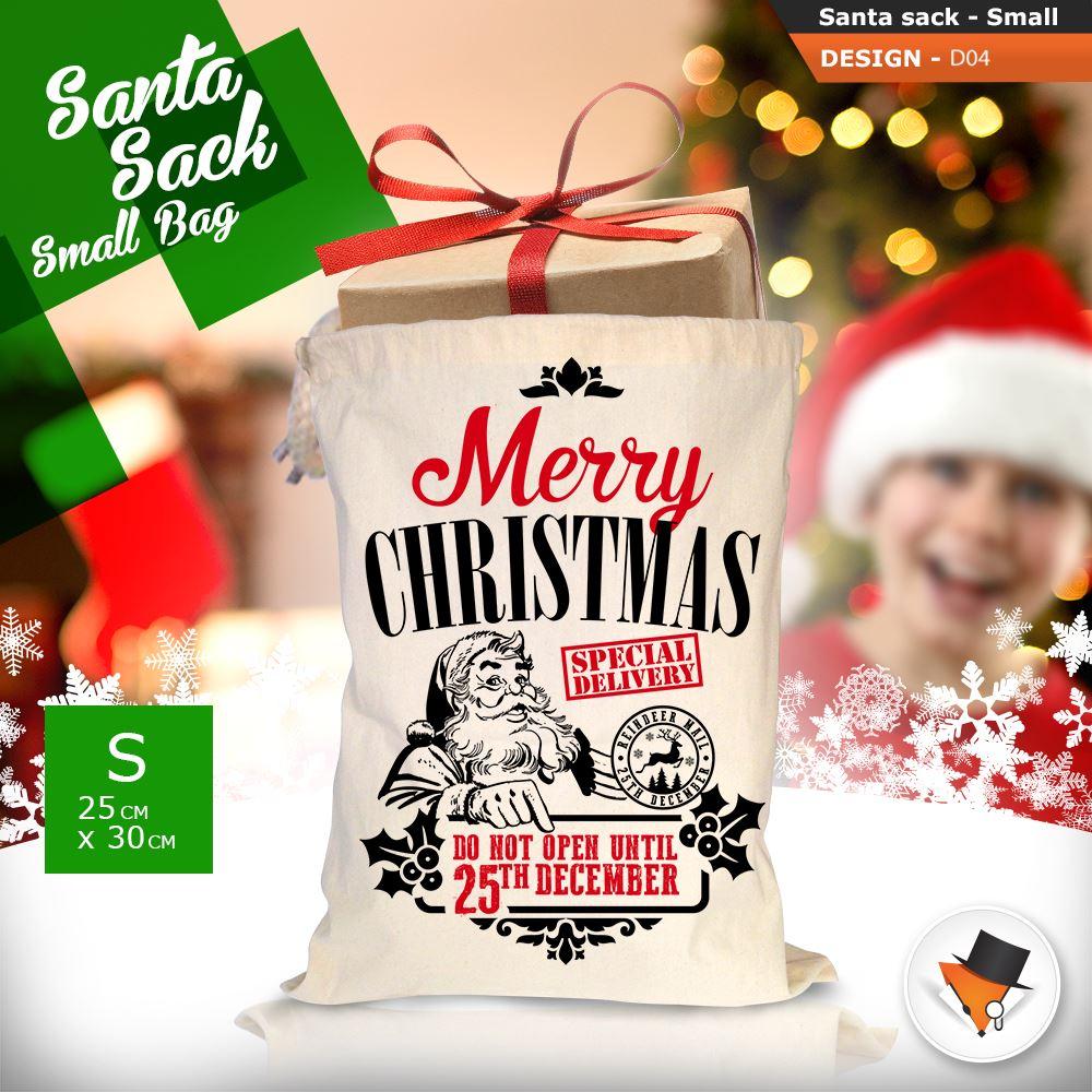 GRANDE-Babbo-Natale-Sacco-Babbo-Natale-Borsa-per-i-REGALI-DONI-NATALE-Calze-Di-Cotone miniatura 15