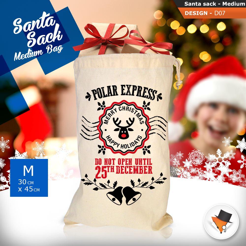 GRANDE-Babbo-Natale-Sacco-Babbo-Natale-Borsa-per-i-REGALI-DONI-NATALE-Calze-Di-Cotone miniatura 28