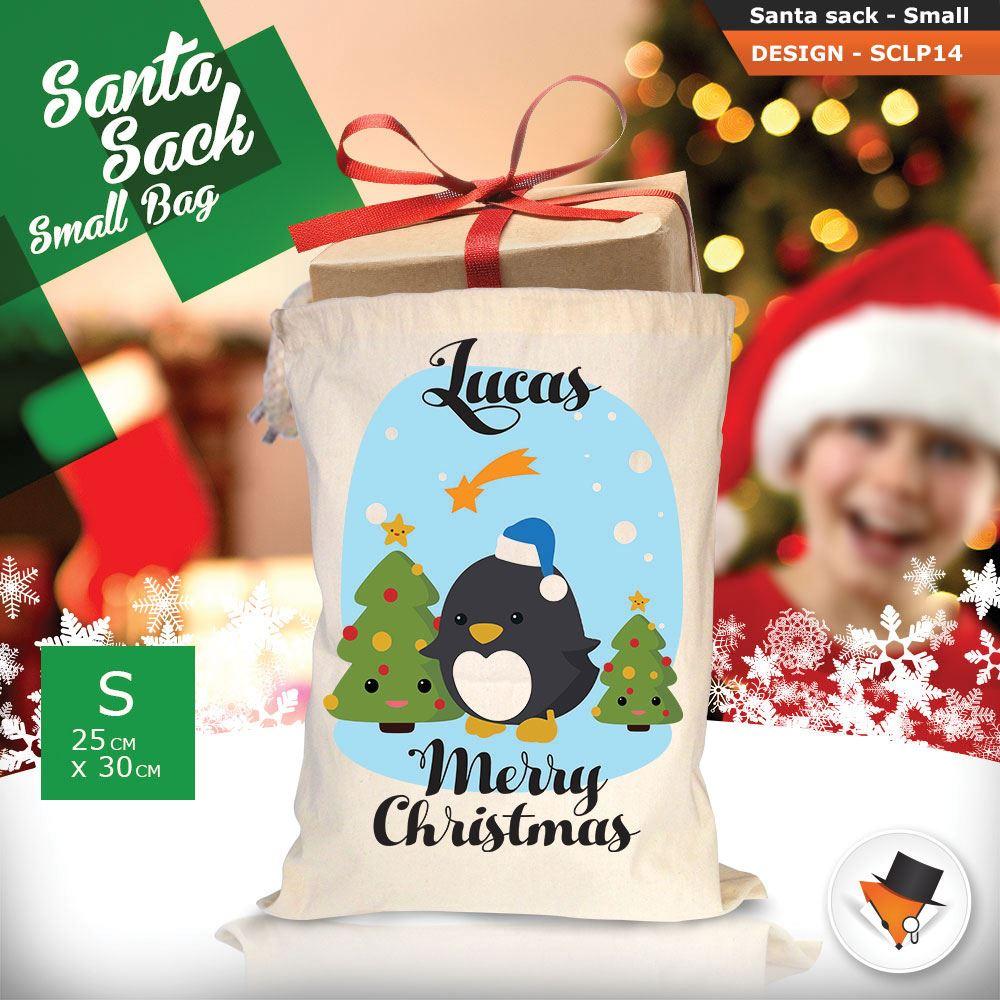 Personalizzato-Per-Bambini-Babbo-Natale-Sacco-Sacchetto-Di-Natale-Renna-Cartone-Animato-Carina-Rosa miniatura 12