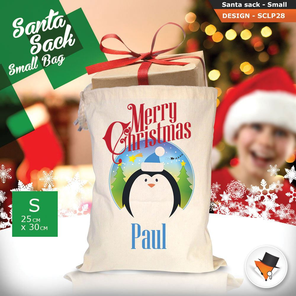 Personalizzato-Per-Bambini-Babbo-Natale-Sacco-Sacchetto-Di-Natale-Renna-Cartone-Animato-Carina-Rosa miniatura 70